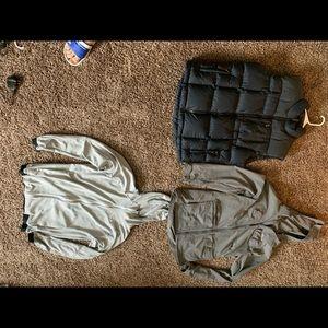 Oakley and Eddie Bauer jacket. Cabelas vest